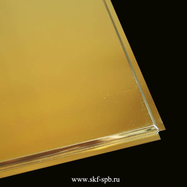 Кассета Албес 595x595 золото A111 tegular 45° Al