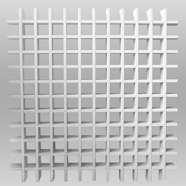 Грильято 50х50, белый, h=40