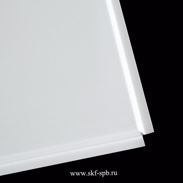 Кассета Албес 595x595 белая tegular 45° стальная